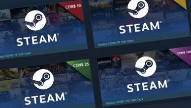 Steam Digital Gift Cards are now available