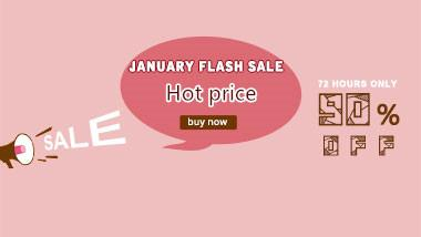 January flash sale: 72 hours only!