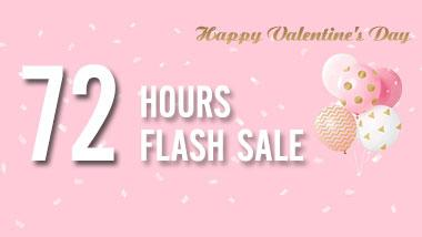 Valentine's day flash sale: Only 72 hours!