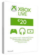 Cheap Gift Cards XBOX Live 20 EURO Card