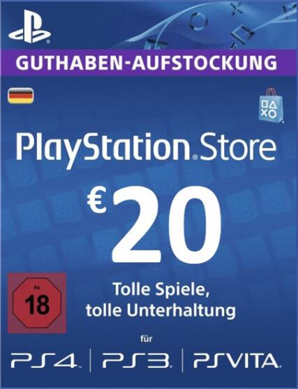 Cheap Gift Cards  Play Station Network 20 EUR DE