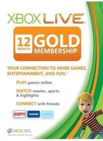 Cheap Gift Cards  Xbox Live 12 Months Gold Membership Card EU