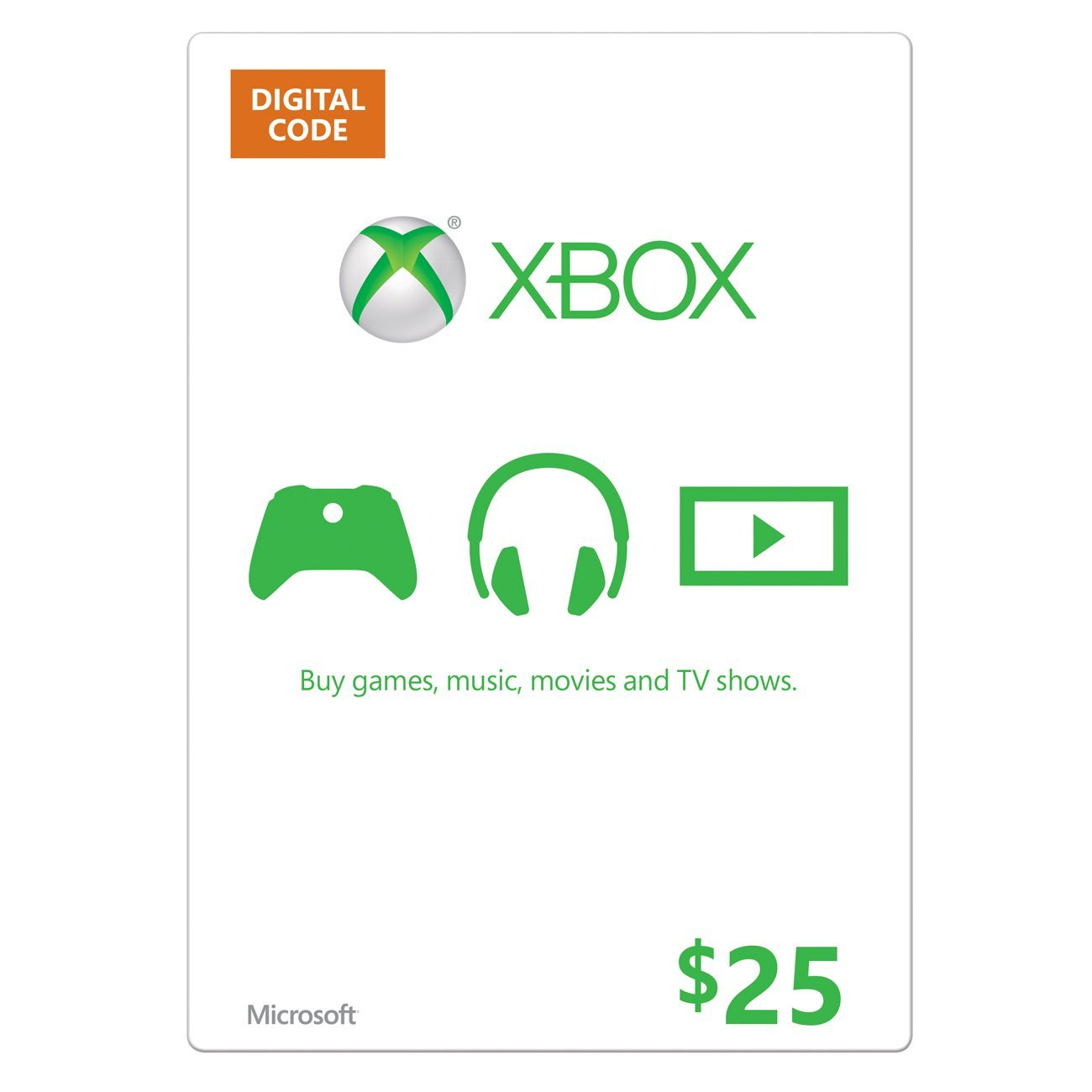 Cheap Gift Cards  XBOX Live Gift Card 25 USD Key