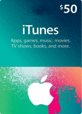 Cheap Gift Cards  Apple iTunes Gift 50 USD