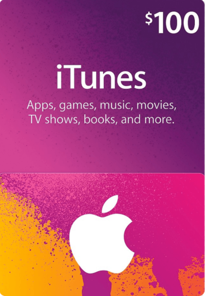 Cheap Gift Cards  Apple iTunes Gift 100 USD