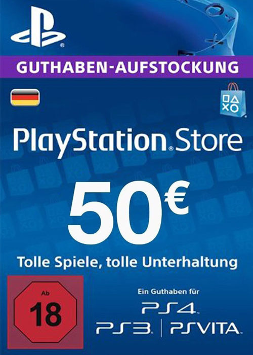 Cheap Gift Cards  Play Station Network 50 EUR DE