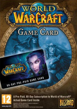 Cheap World Of Warcraft  World of Warcraft EU 60 Days Time Card