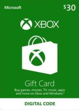 Cheap Gift Cards XBOX Live Gift Card 30 USD Key