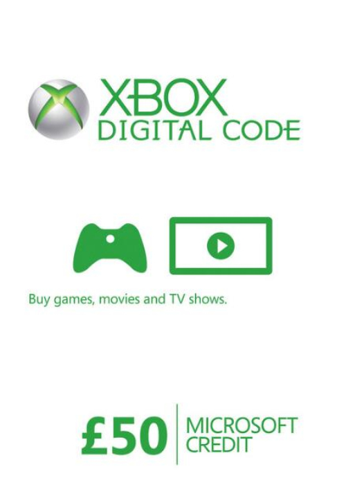 Cheap Gift Cards  XBOX Live Gift Card 50 GBP Key