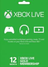 Cheap Gift Cards Xbox Live 12 Months Gold Membership Card