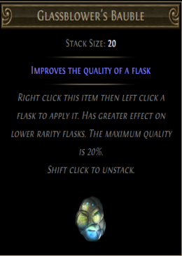 Cheap Path Of Exile (Global) Standard Glassblower's Bauble-300