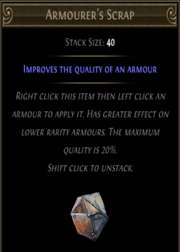 Cheap Path Of Exile (Global) Incursion HC Armourer's Scrap-100