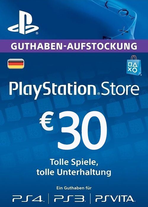 Cheap Gift Cards  Play Station Network 30 EUR DE