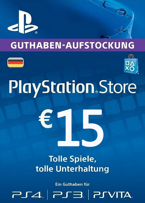 Cheap Gift Cards  Play Station Network 15 EUR DE