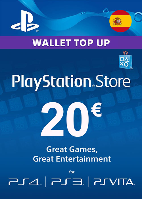 Cheap Gift Cards  Play Station Network 20 EUR ES/SPAIN