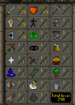 Cheap Runescape Old School ZB9444 LV298 Account