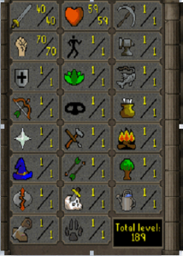 Cheap Runescape Old School ZB9452 LV189 Account