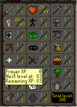 Cheap Runescape Old School ZB9454 LV130 Account