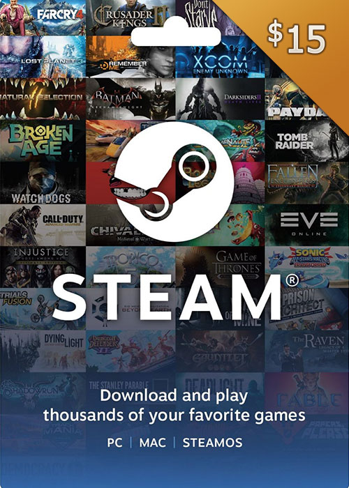 Cheap Gift Cards  steam Gift Card 15 USD