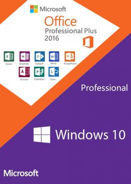Cheap Microsoft Windows10 PRO OEM + Office2016 Professional Plus CD Keys Pack