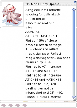 Cheap Ragnarok Online(US) Chaos +12 Mad Bunny Special