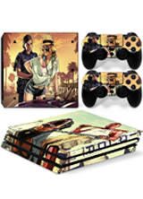 Grand Theft Auto Skin Sticker For PS4 Playstation 4 Console + 2 Controller
