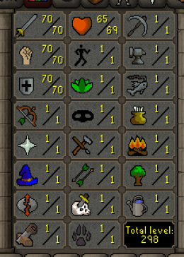 Cheap Runescape Old School Atk70 Str70 Def70