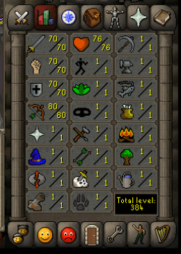 Cheap Runescape Old School Atk70 Str70 Def70 Ranged80