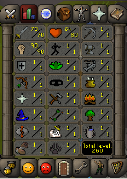 Cheap Runescape Old School Atk70 Str90