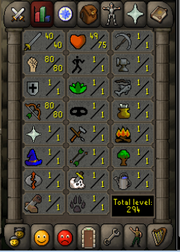 Cheap Runescape Old School Atk40 Str80 Ranged80