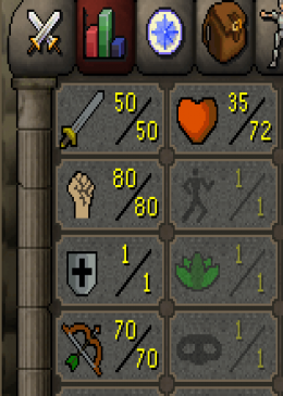 Cheap Runescape Old School Atk50 Str80 Ranged70