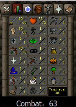 Cheap Runescape Old School Atk60 Str80 Ranged70