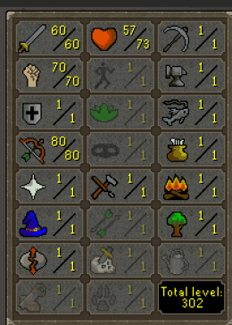 Cheap Runescape Old School Atk60 Str70 Ranged80