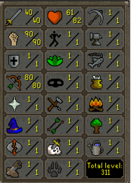Cheap Runescape Old School Atk40 Str90 Ranged80