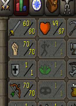 Cheap Runescape Old School Atk60 Str70 Ranged70