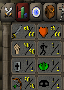Cheap Runescape Old School Atk60 Str90 Ranged70