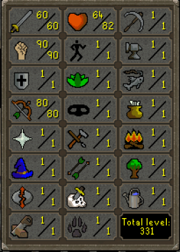 Cheap Runescape Old School Atk60 Str90 Ranged80
