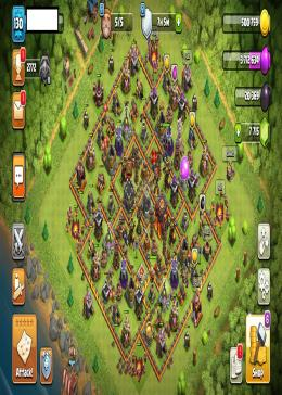 Cheap Clash of Clans Global LV 130/TH 10 - BK 40 AQ 40 | Gems 7715 | Android & IOS