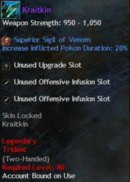 Cheap Guild War 2 Legendary Weapons Kraitkin