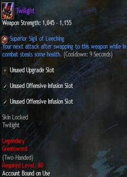 Cheap Guild War 2 Legendary Weapons Twilight