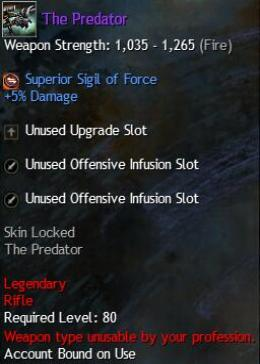 Cheap Guild War 2 Legendary Weapons The Predator