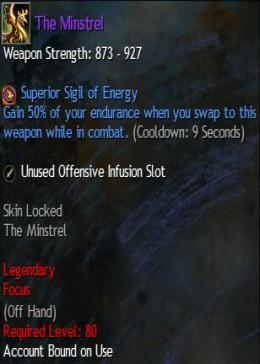 Cheap Guild War 2 Legendary Weapons The Minstrel