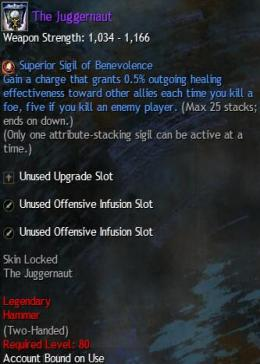 Cheap Guild War 2 Legendary Weapons The Juggernaut