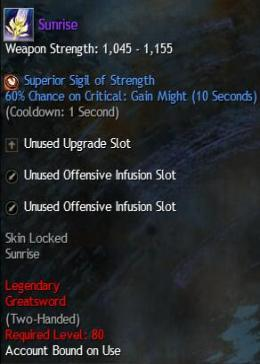 Cheap Guild War 2 Legendary Weapons Sunrise
