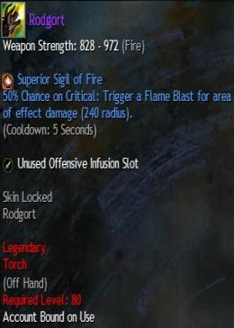 Cheap Guild War 2 Legendary Weapons Rodgort