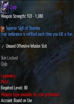 Cheap Guild War 2 Legendary Weapons Quip