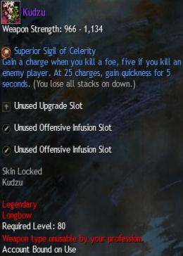 Cheap Guild War 2 Legendary Weapons Kudzu