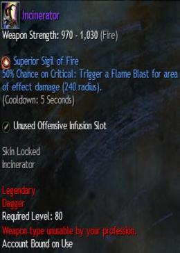 Cheap Guild War 2 Legendary Weapons Incinerator