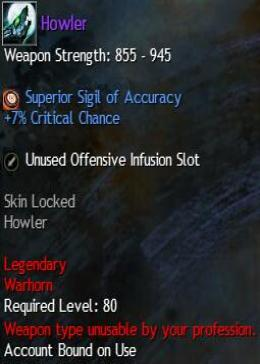Cheap Guild War 2 Legendary Weapons Howler