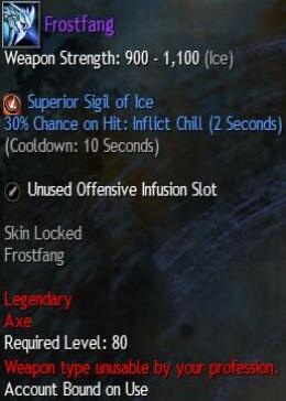 Cheap Guild War 2 Legendary Weapons Frostfang
